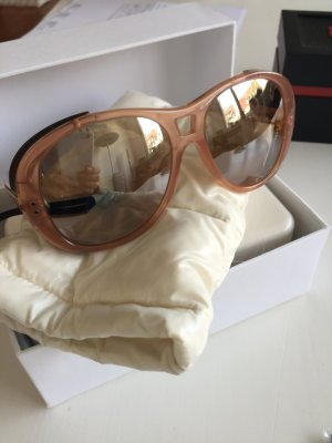 Moncler Lunettes sonnen Brille verspiegelt orange braun