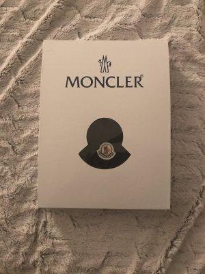 Moncler Cappello in pelliccia nero-marrone chiaro Lana