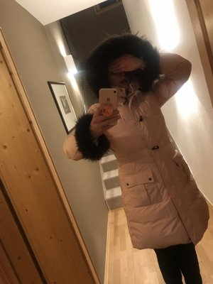 Moncler Hooded Coat light pink