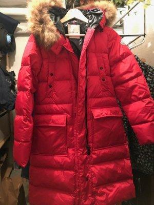 Moncler Manteau matelassé rouge synthétique
