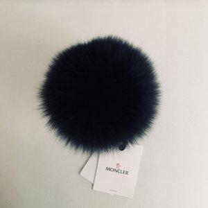 Moncler Sombrero de piel azul oscuro Cachemir