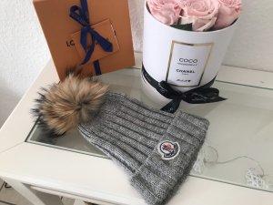 Moncler Chapeau en tricot gris-gris clair