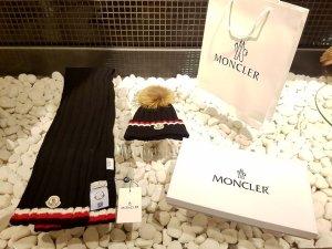 Moncler Fur Hat dark blue new wool