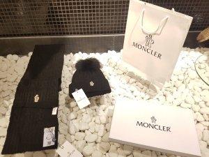 Moncler Cappello in pelliccia nero Lana vergine