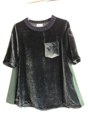 Moncler neu Samtshirt in grün/Oliv