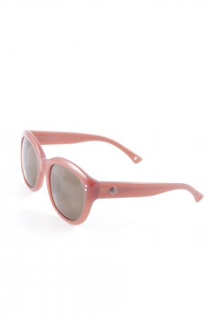 Moncler runde Sonnenbrille rostrot Casual-Look