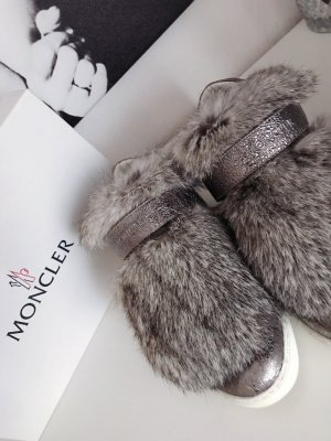 Moncler Sneaker Silber/Grau Echtfell