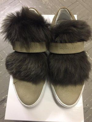 Moncler Zapatillas con velcro beige
