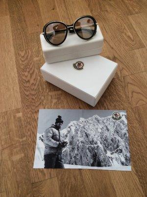 Moncler Sonnenbrille Weiß schwarz
