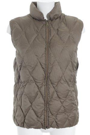 Moncler Gewatteerd vest lichtbruin quilten patroon casual uitstraling