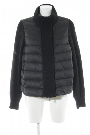 Moncler Strickjacke schwarz Steppmuster Casual-Look