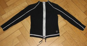 Moncler Strickjacke schwarz weiß Streifen Gr. S XS Jacke