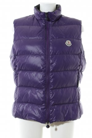 Moncler Strickweste lila Steppmuster Casual-Look
