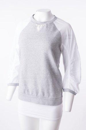MONCLER - Sweatshirt mit Netzärmeln Grau