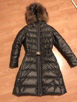 Moncler Manteau en duvet gris foncé