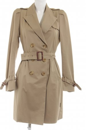 Moncler Trenchcoat creme Business-Look