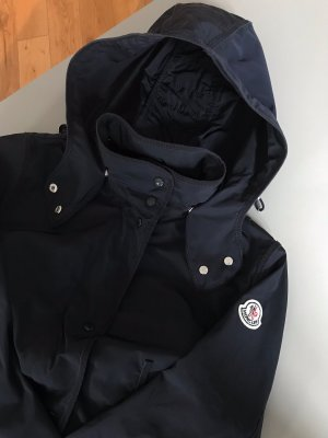 Moncler Heavy Raincoat dark blue