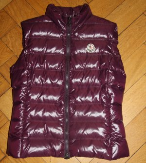 Moncler Weste Ghany brombeer bordeaux Gr. 0 XS 34 TOP NP 395€