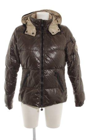Moncler Winterjacke schwarzbraun-camel Casual-Look