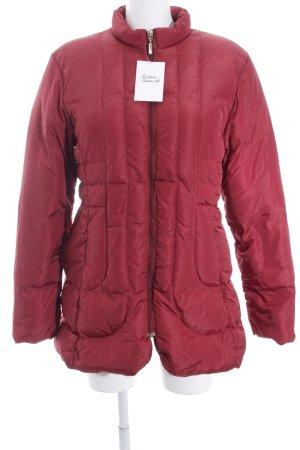 Moncler Manteau en laine rouge style décontracté