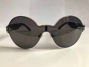 Moncler Occhiale da sole rotondo antracite-nero Materiale sintetico