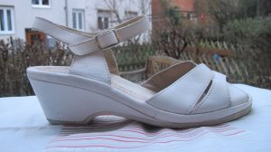 ara Plateauzool sandalen wit