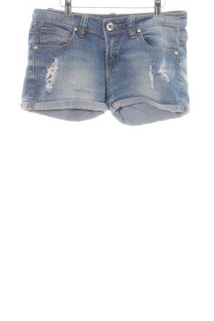 Monday Jeansshorts blau Used-Optik