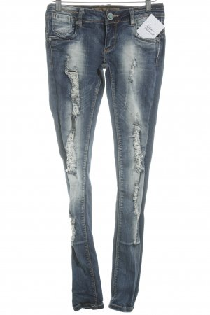Monday Premium Skinny Jeans blau Destroy-Optik