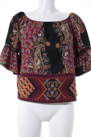 mondial Carmen-Bluse florales Muster Elegant