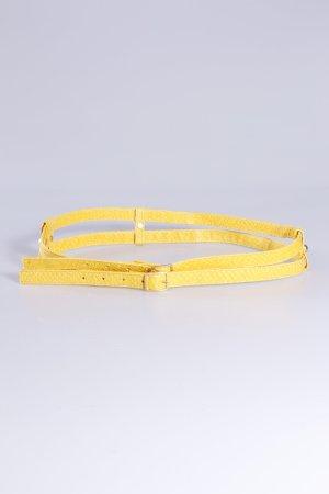 Mongrels in common Gürtel gelb zwei Stränge