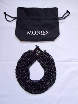 Collier Necklace black-black brown leather