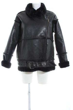 Monki Veste motard noir style décontracté