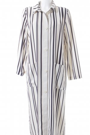 Monki Blusenkleid creme-schwarz Streifenmuster Street-Fashion-Look