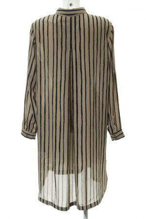 Monki Blusenkleid hellbeige-schwarz Streifenmuster Casual-Look