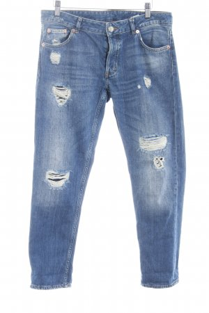 Monki Boot Cut Jeans blau Casual-Look