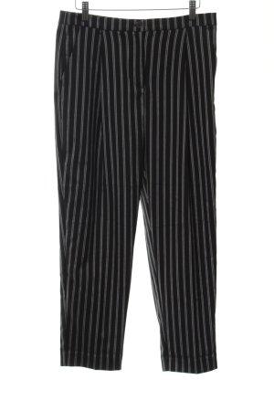 Monki Bundfaltenhose schwarz Streifenmuster Elegant