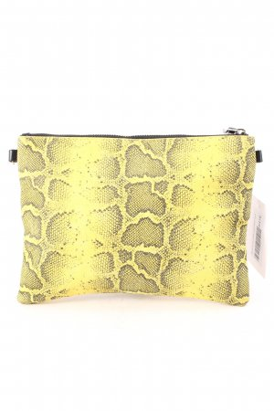 Monki Clutch schwarz-gelb Reptil-Optik