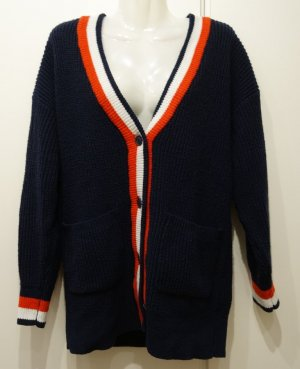 MONKI College Style Cardigan Gr. S/M navy Retro Style Wolle