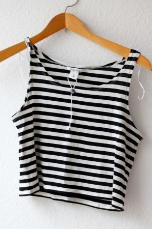 Monki Crop Top stripes Streifen Croptop XS