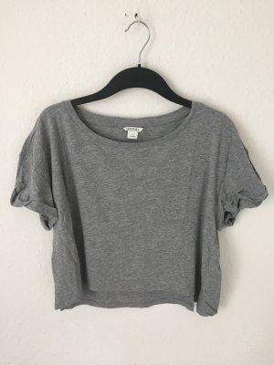 Monki cropped Shirt Grau