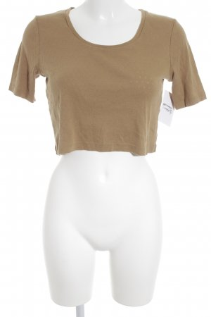 Monki Cropped Top camel Street-Fashion-Look