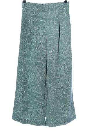 Monki Culottes grün-weiß Allover-Druck Elegant