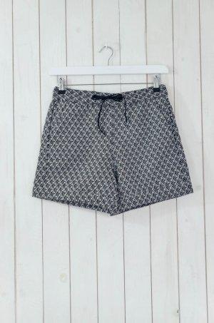 MONKI Damen Shorts Kurze Hose Schwarz Weiß Muster Acryl-Gemisch Gr.S Neu!