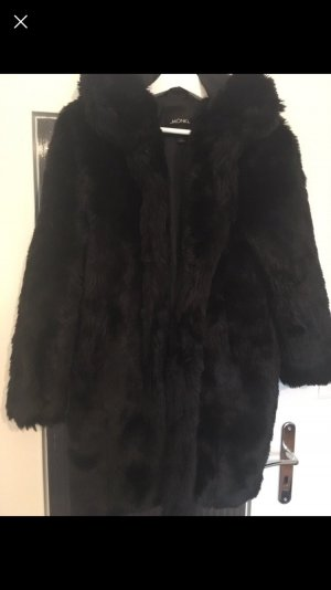Monki Fake fur Plüsch Mantel
