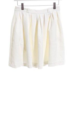 Monki Jupe à plis blanc-blanc cassé style décontracté