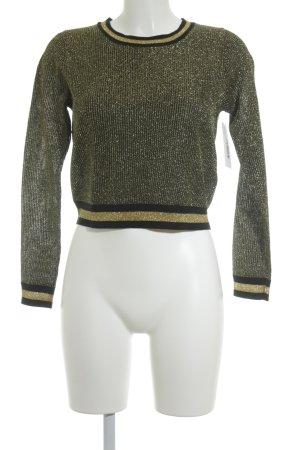 Monki Feinstrickpullunder goldfarben-schwarz Farbverlauf Street-Fashion-Look