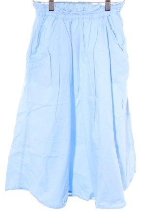 Monki Glockenrock himmelblau Casual-Look