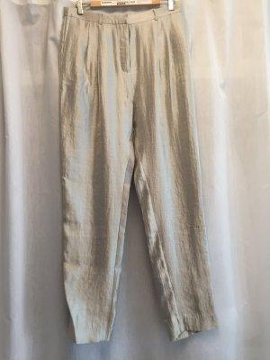 Monki Pantalone jersey oro Tessuto misto