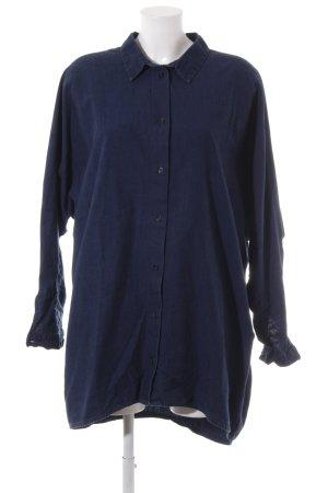 Monki Hemdblusenkleid dunkelblau Casual-Look
