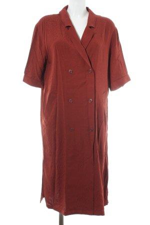Monki Hemdblousejurk roodbruin abstract patroon casual uitstraling
